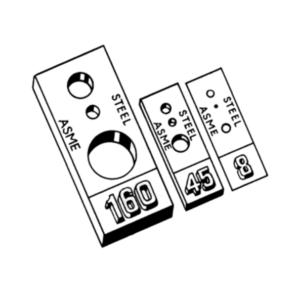 Stainless Steel Penetrameter (Lochpenetrameter) nach ASTM E 1025-05, incl. Konformitätszeugnis