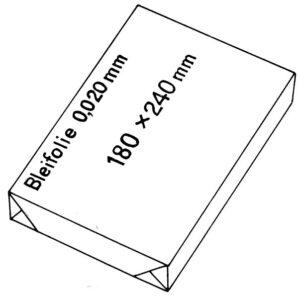 Bleiverstärkungsfolien 0,02 mm