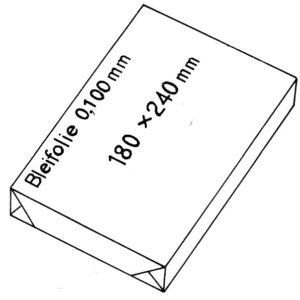 Bleiverstärkungsfolien 0,1 mm